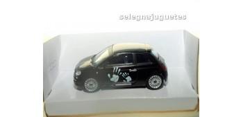 Fiat 500 nuevo negro 1/43 Mondo motors coche escala miniatura