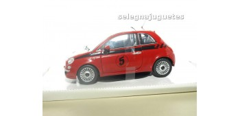 coche miniatura FIAT 500 NUEVO NUMERO 5 ROJO escala 1/24 MONDO