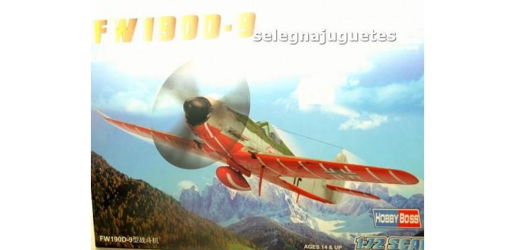 FW 190D-9 avión escala 1/72 Hobby Boss maqueta plastico
