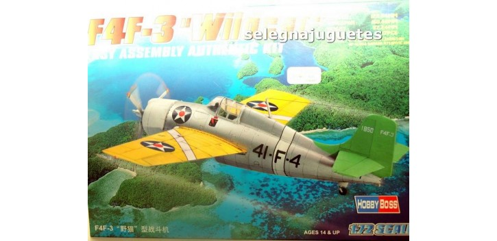 F4F-3 WILDCAT - AVION - 1/72 HOBBY BOSS