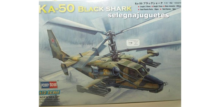 KA-50 Black Shark Helicoptero escala 1/72 Hobby Boss maqueta