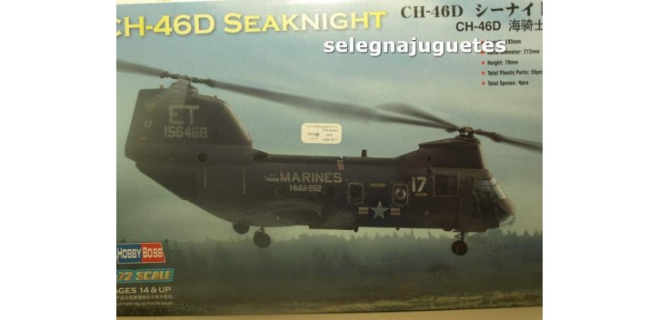 CH-46D SEAKNIGHT - HELICOPTERO - 1/72 HOBBY BOSS