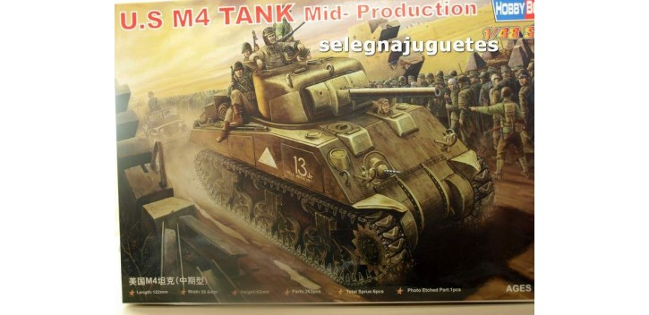 U.S. M4 TANK MID PRODUCTION - TANQUE - 1/48 HOBBY BOSS