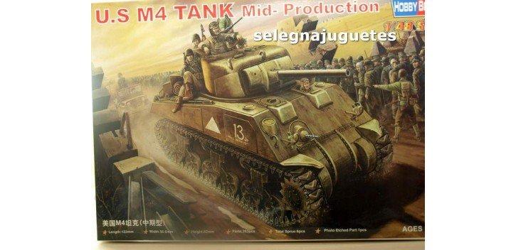 U.S. M4 TANK MID PRODUCTION - TANQUE - 1/48 HOBBY BOSS