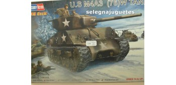 maqueta coches U.S. M4A3 (76) W - TANQUE - 1/48 HOBBY BOSS