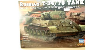 maqueta coches T-34/76 MODEL 1942 - TANQUE - 1/48 HOBBY BOSS