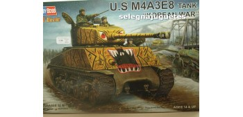 miniature tank U.S. M4A3E8 GUERRA COREA - TANQUE - 1/48 HOBBY