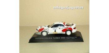Toyota Celica Turbo 4WD Cataluña 1992 - C Sainz - L. Moya escala 1/43 Altaya Coche metal miniatura Ixo