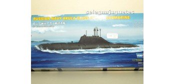 Russian Navy Akula Clas Attack submarino escala 1/700