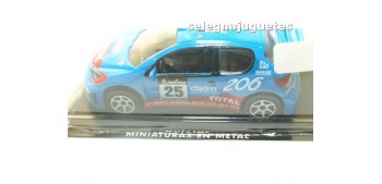 miniature car Peugeot 206 wrc Rally Montecarlo scale 1:43