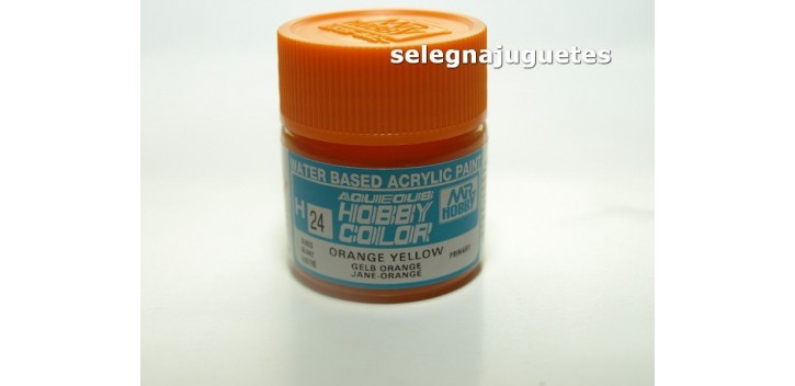 Amarillo Naranja - Orange Yellow - Pintura color - Acrilica - Bote 10 ml