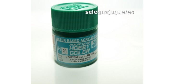 Verde esmeralda - esmerald green - Pintura color - Acrilica - Bote 10 ml