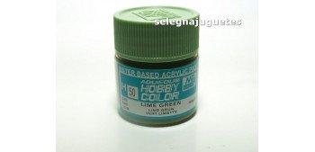 Verde Lima - Lime Green - Pintura color - Acrilica - Bote 10 ml