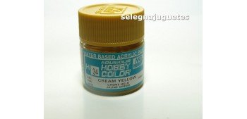 Amarillo Crema - Cream yellow - Pintura color - Acrilica - Bote 10 ml