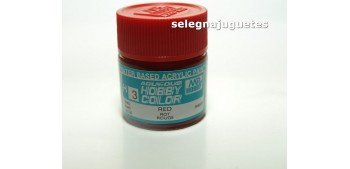 Rojo - Red - Pintura color - Acrilica - Bote 10 ml