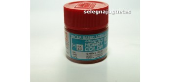 Rojo brillante - Shine Red - Pintura color - Acrilica - Bote 10 ml