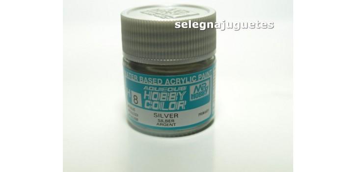 Plata - Silver - Pintura color - Acrilica - Bote 10 ml
