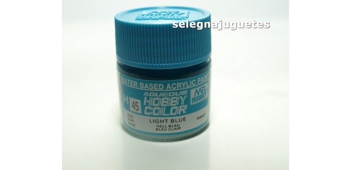 Azul claro ligero - Light blue - Pintura color - Acrilica -