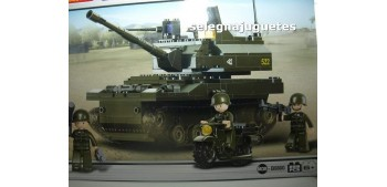 tanque miniatura Sluban B9800 Leopard 2A6 Main Battle Tanque