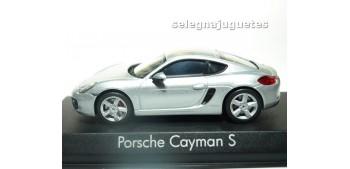 miniature car Porsche Cayman S 2013 Silver escala 1/43 Norev