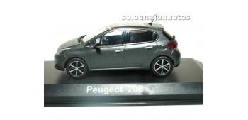 Peugeot 208 2015 Matt Dark Grey (Ice Silver) escala 1/43 Norev