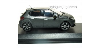 Peugeot 208 2015 Matt Dark Grey (Ice Silver) escala 1/43 Norev