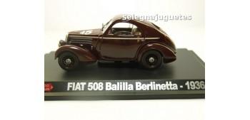 miniature car FIAT 508 BALILLA BERLINETTA 1936 1/43 HACHETTE