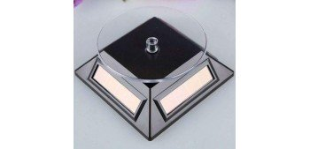 Peana Expositora giratoria solar negro para artículos de varias escalas