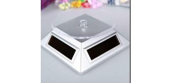 Peana Expositora giratoria solar blanco para artículos de varias escalas