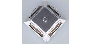 Peana Expositora giratoria solar plateado para artículos de varias escalas