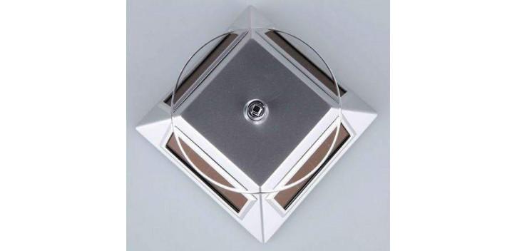 Peana Expositora Plástico solar plateado para artículos de varias escalas