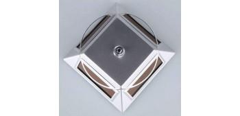 Peana Expositora giratoria solar plateado para artículos de