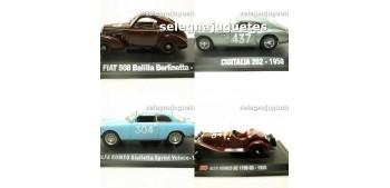 Lote 4 modelos: Cisitalia 202 - Fiat 508 Balilla - Alfa Romeo 6C + Alfa Romeo Giulieta escala 1/43 Hachette