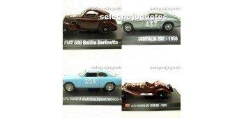 Lote 4 modelos: Cisitalia 202 - Fiat 508 Balilla -Alfa Romeo 6C + Alfa Romeo Giulieta escala 1/43 Hachette
