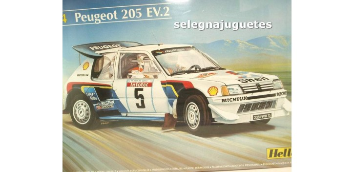 maqueta coches Peugeot 205 EV.2 escala 1/24 Heller maqueta