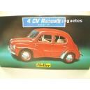 <p>FABRICANTE: <strong>HELLER</strong></p><p>ESCALA - SCALE - ECHELLE - MABSTAB: <strong>1:43 - 1/43</strong></p><p>MODELO:<strong>Renault 4 CV</strong></p>