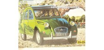 miniature car Citroen 2 CV escala 1/24 Heller maqueta coche