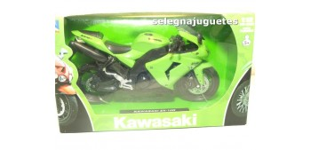 Kawasaki ZX 10R verde 1/12 New ray moto en miniatura