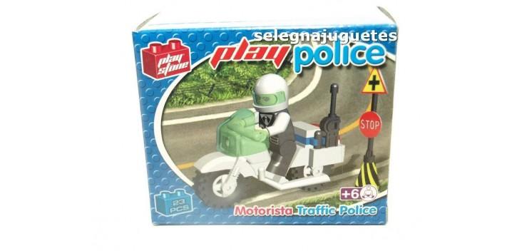 Motorista de policía de tráfico juego de Bloques 23 Piezas Play