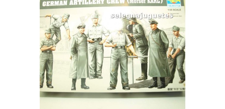 German Artillery Crew (Moser Karl) escala 1/35 Trumpeter