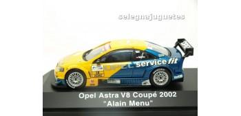 lead figure OPEL ASTRA V8 COUPE 2002 ALAIN MENU 1/43 SCHUCO