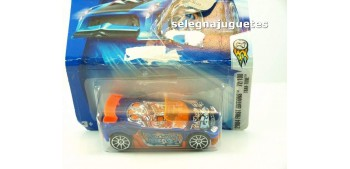 Trak-Tune 72-100 escala 1/64 Hot wheels (cartón doblado y rozado)