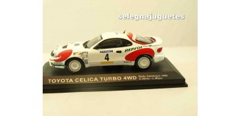 miniature car Toyota Celica Turbo 4WD Cataluña 1992 (vitrina) -