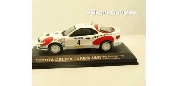 coche miniatura Toyota Celica Turbo 4WD Cataluña 1992 (vitrina)