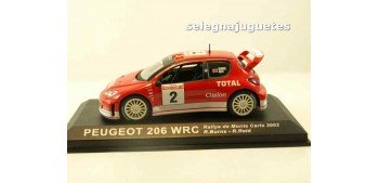Peugeot 206 WRC Monte Carlo 2003 R. Burns (vitrina) escala 1/43 Altaya Coche metal miniatura