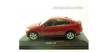 miniature car Bmw X6 rojo (vitrina) escala 1/34 a 1/39 Welly