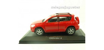 Toyota Rav 4 rojo (vitrina) escala 1/34 a 1/39 Welly Coche metal miniatura Welly