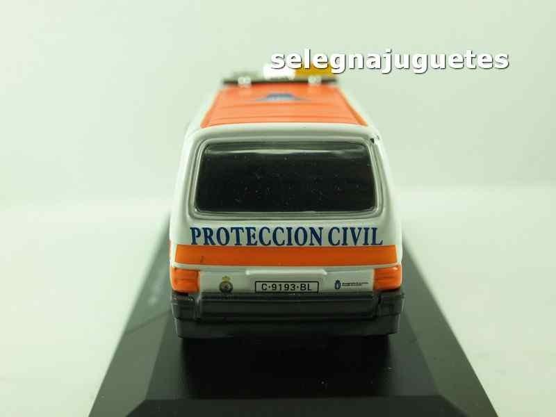 Escala Coche Volkswagen Miniaturasin Van Caja Civil Protección 143 nwX8P0Ok
