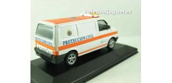 Volkswagen van protección civil escala 1/43 Coche miniatura (vitrina) Cararama