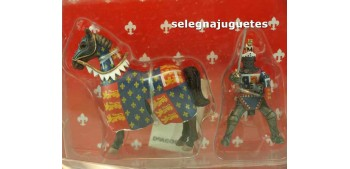 Caballero Medieval a caballo Soldado Plomo 54 mm Del Prado